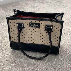 Kate Spade black & white polka dot purse